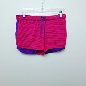 🌻Adidas Athletic Shorts. Pink and Purple. M